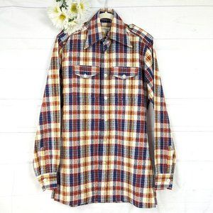Vintage Russell's Montreal Unisex Long Plaid Shirt